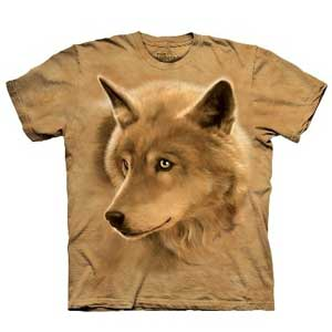 Golden Eyes Wolf T-shirt Adult