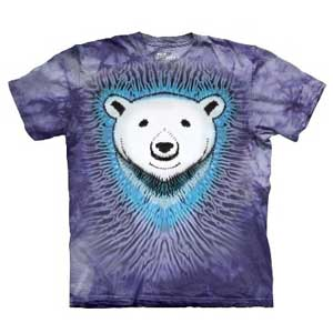 Polar Bear Tie Dye T-shirt Childrens