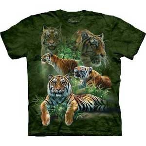 Jungle Tigers T-shirt Adult