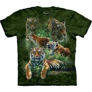 Jungle Tigers T-shirt Adult