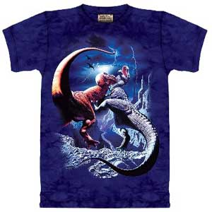 Fighting Rexes Dinosaur T-shirt Childrens