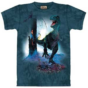 Rex Dinosaur T-shirt (green) Childrens