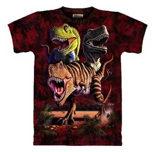 Rex Collage Dinosaur T-shirt (Adult)