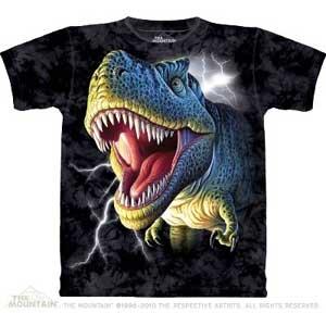Lightening Rex Dinosaur T-shirt Adult