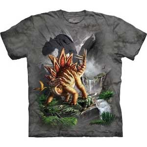 Against The Wall Dinosaur T-shirt Adult