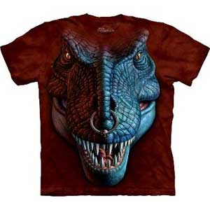 T-Rex Face Dinosaur T-shirt Adult