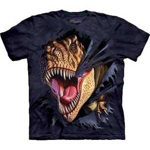 T-Rex Tearing Dinosaur T-shirt Adult