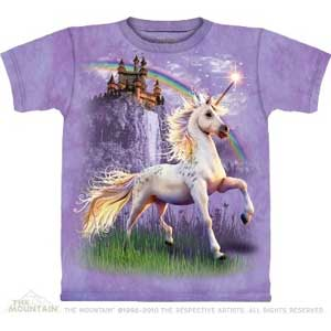 Unicorn Castle T-shirt Adult