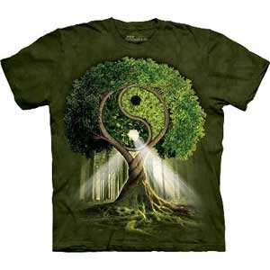 Yin Yang Tree T-shirt Adult