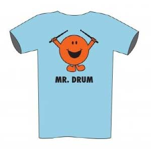Drummers T-shirt Mr DRUM (kids sizes blue)