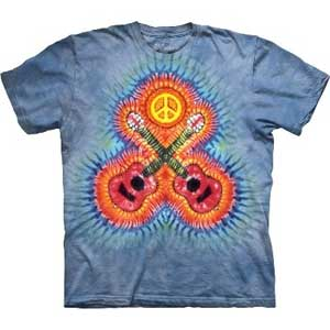 Crossed guitars tie Dye T-shirt Childrens