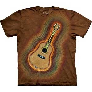 Acoustic Guitar Tie Dye T-shirt Adult