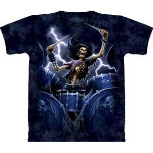 Death Drummer T-shirt Adult