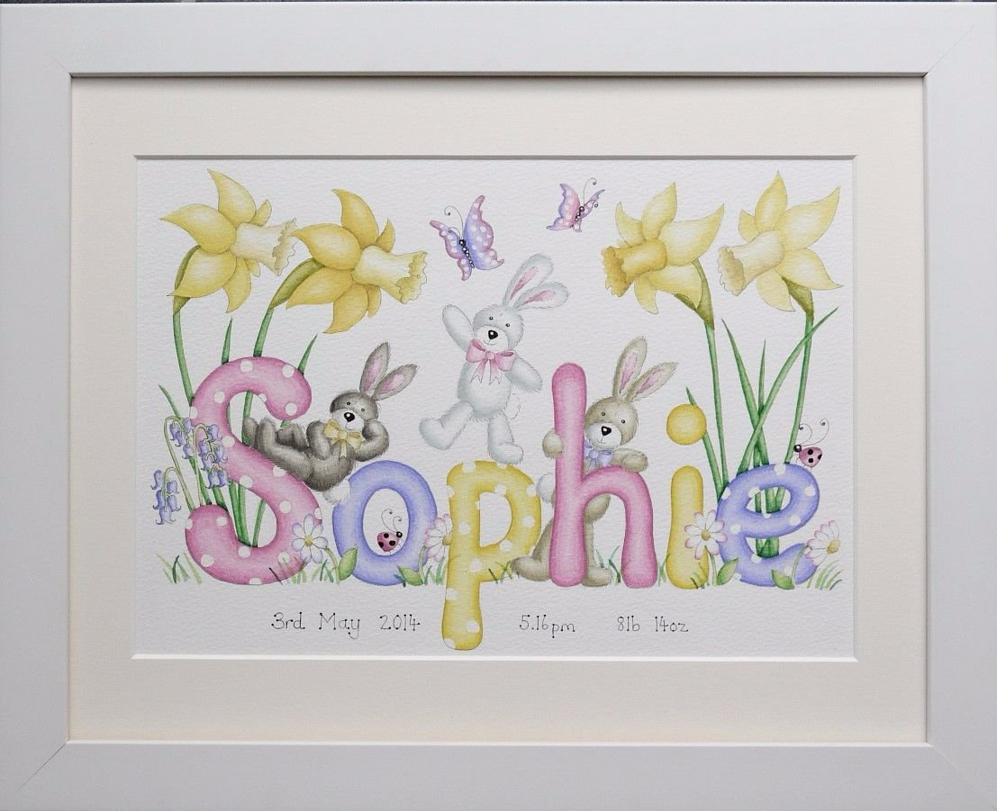 Bunnies and Daffodils