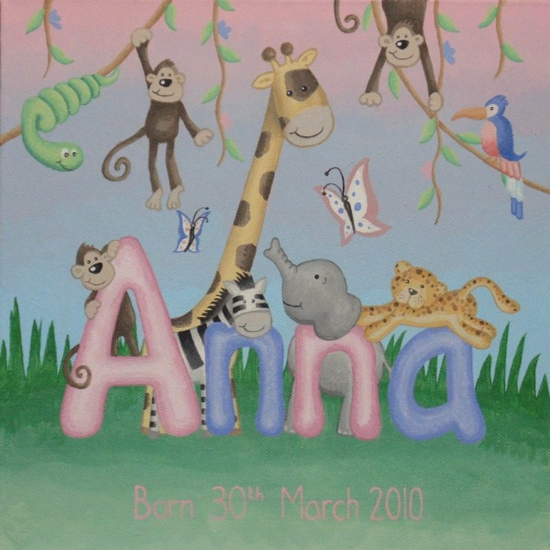 anna - jungle canvas