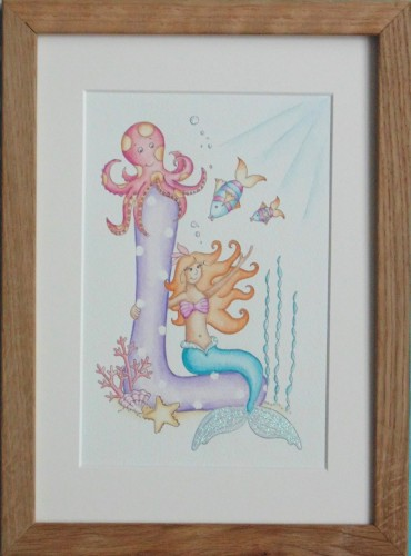 Letter with Mermaid underwater