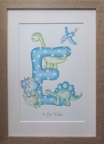 Letter baby Dinosaur theme