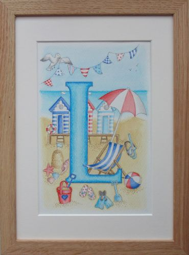 Letter L with seaside theme