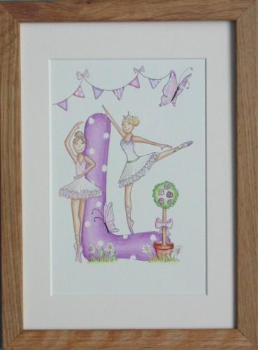 Ballerina letter painting
