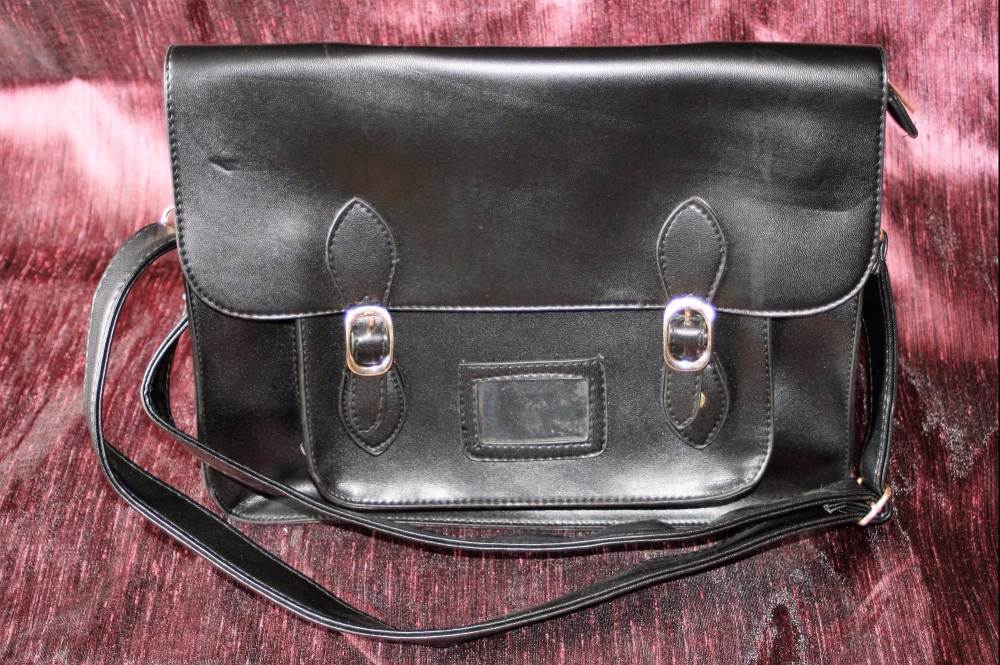 Smooth Black Satchel