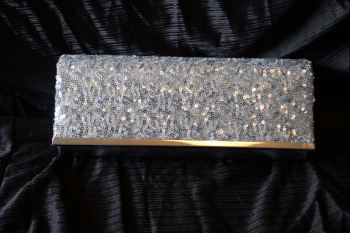 Silver Sequin Evening Clutch/Shoulder bag