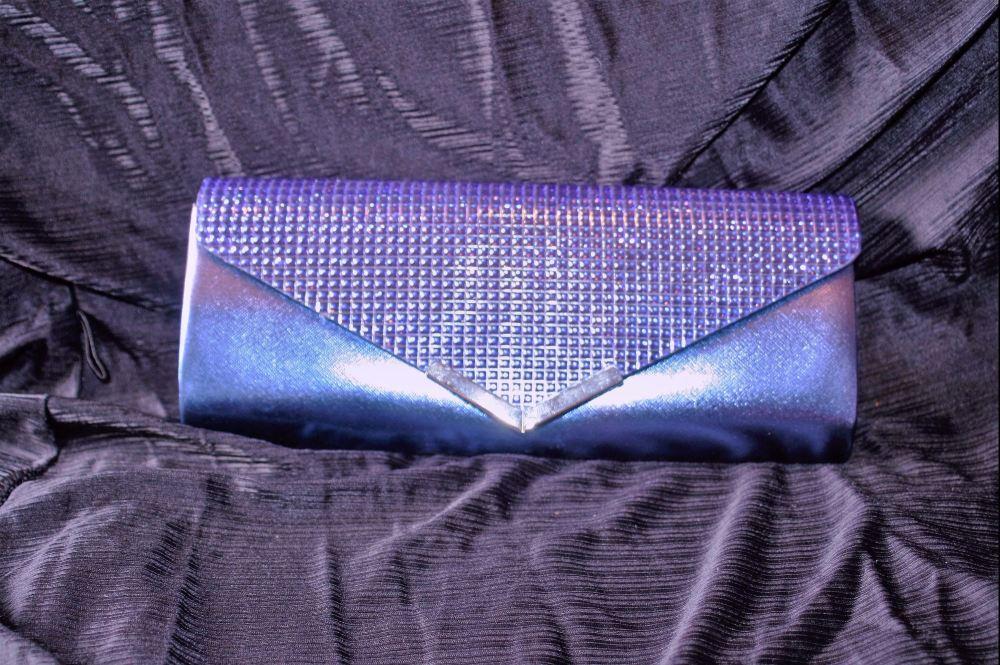 Blue Sparkle Evening Bag  Shoulder/Clutch