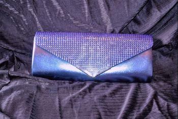 Sapphire Blue Full Sparkle Evening Clutch/Shoulder Bag