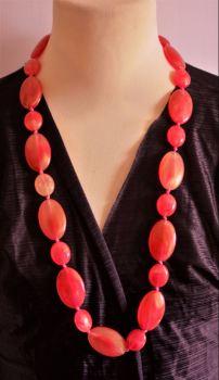 Statement coral colour necklace