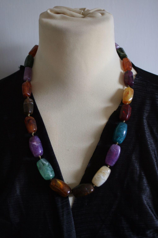 Statement Polished Semi-precious Stone Necklace