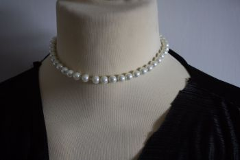 Classic Single strand of simulated pearls - boxed