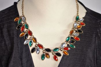 Beautiful coloured leaves necklace