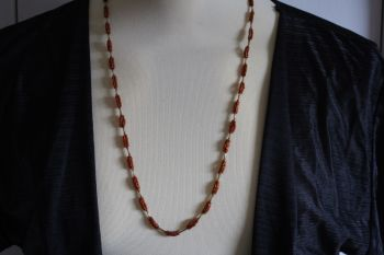 "Hand Made Copper Coloured ""corn cob "" necklace"