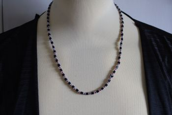 Black white and Red Hand Made Necklace