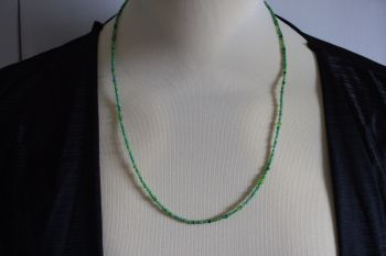 Delicate Green Necklace