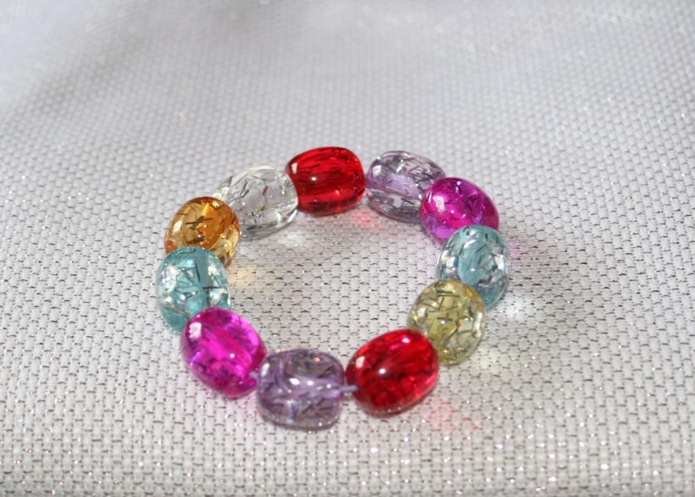 Bright Multicoloured elasticated bracelet