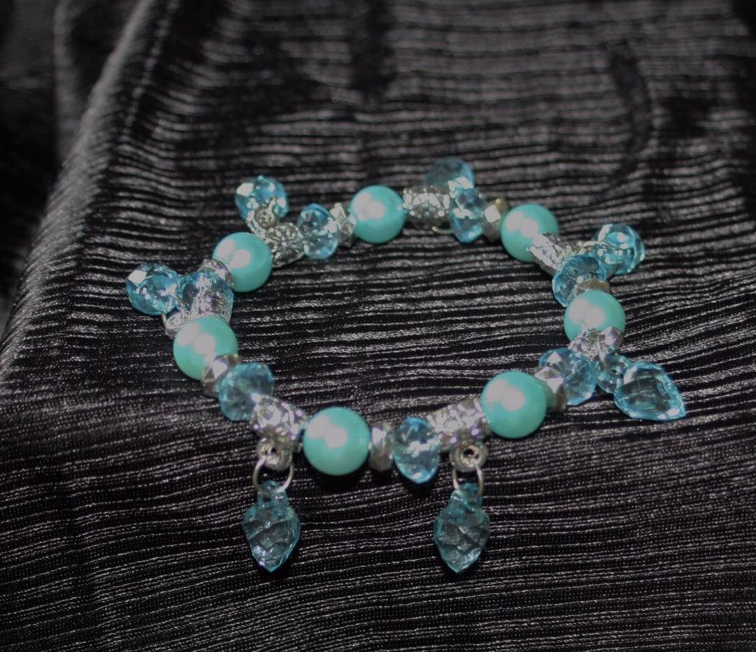 Lovely pale blue elasticated bracelet