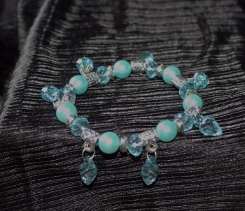 Lovely pale blue elasticated bracelet