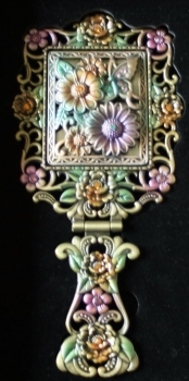 Ornate folding mirror FLOWERS