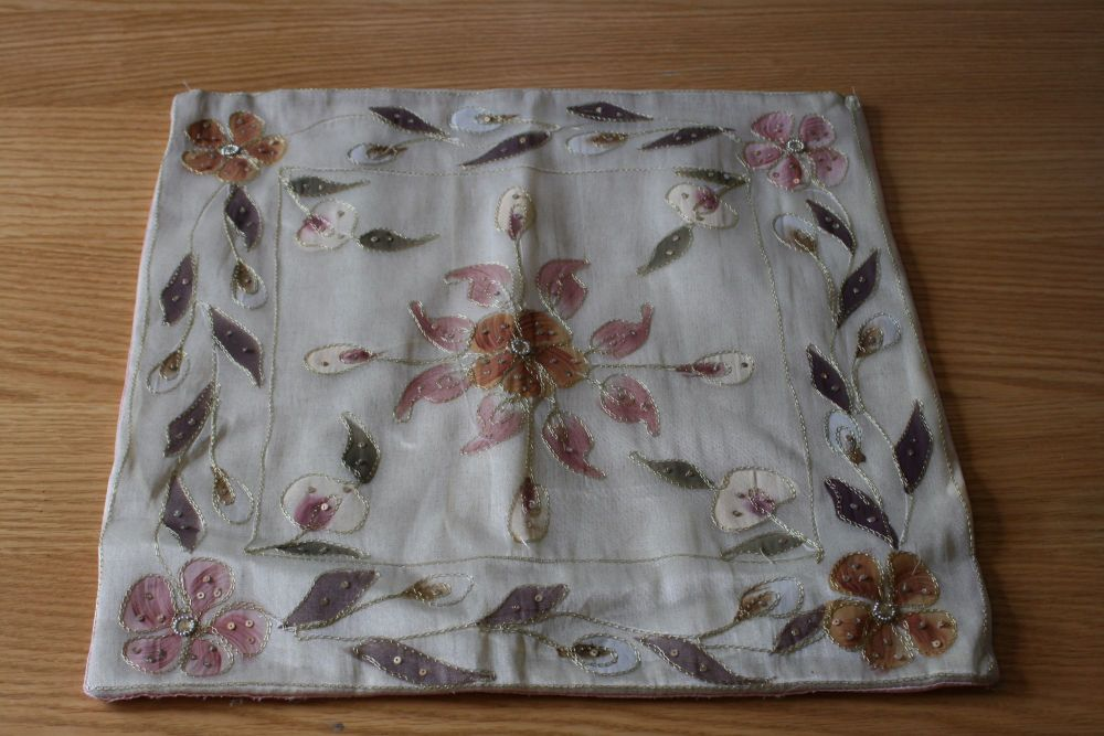 Beautiful Hand Made Silk Cushion Cover
