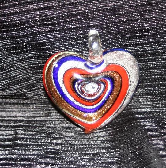HAND BLOWN GLASS HEART PENDANTS