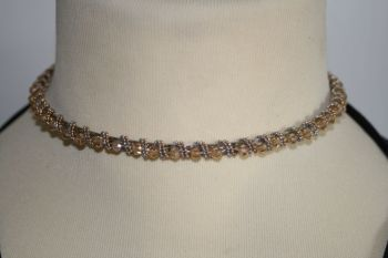 Hand Made Hairband with gold coloured stones