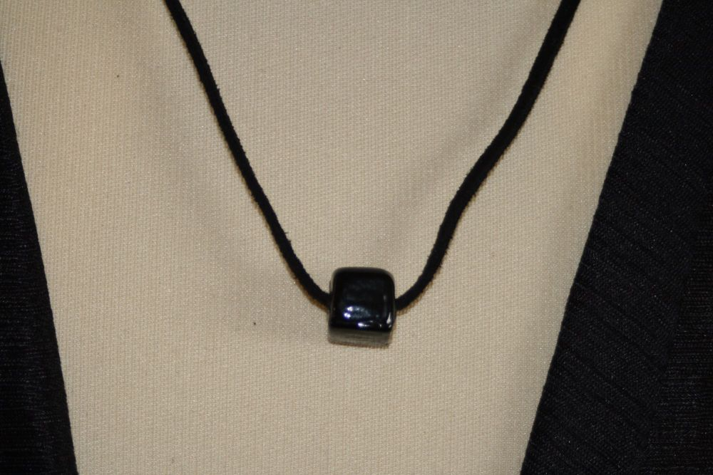 Friendship Pendant with BLACK SQUARE Bead