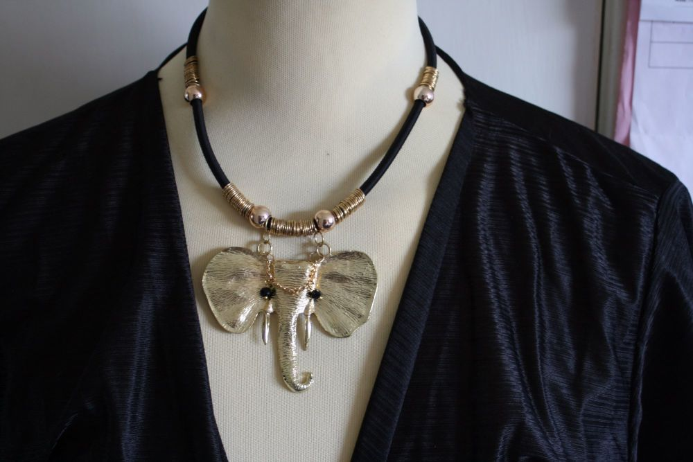 Statement Lucky Elephant Head Pendant (with moving eyes ! )