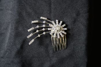Diamante Starburst Hair Comb