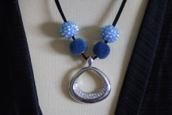 Blue and Silver Hand Made Necklace