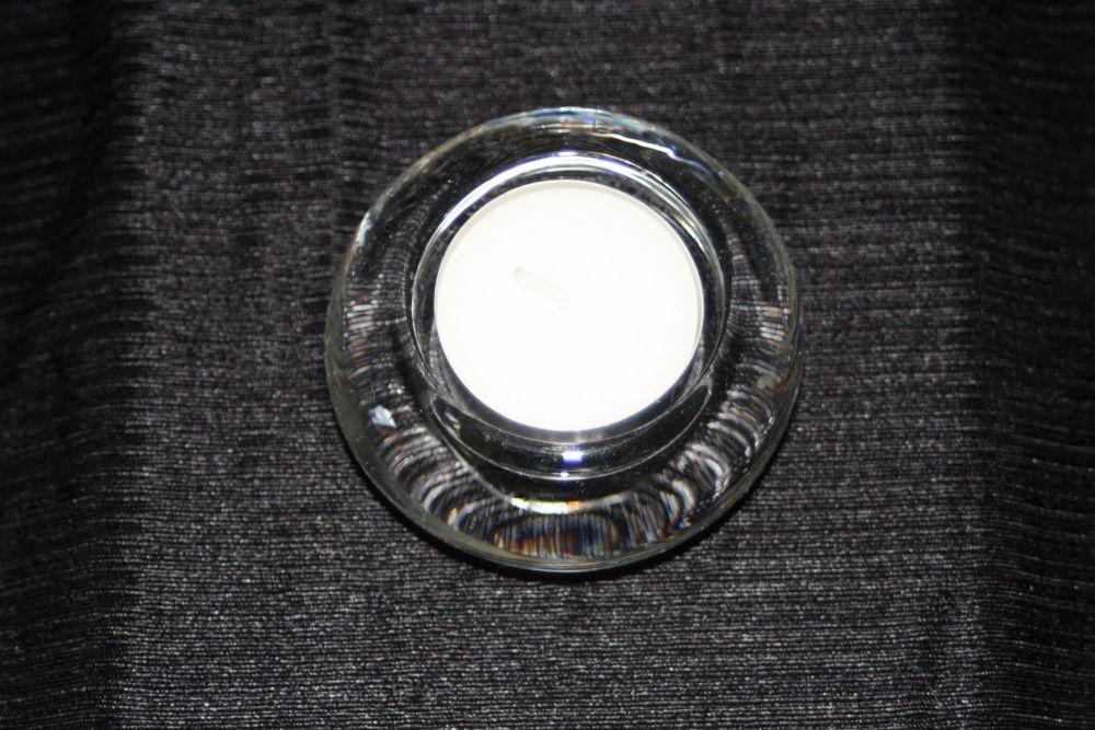 Chunky Circular Glass Tealight Holder