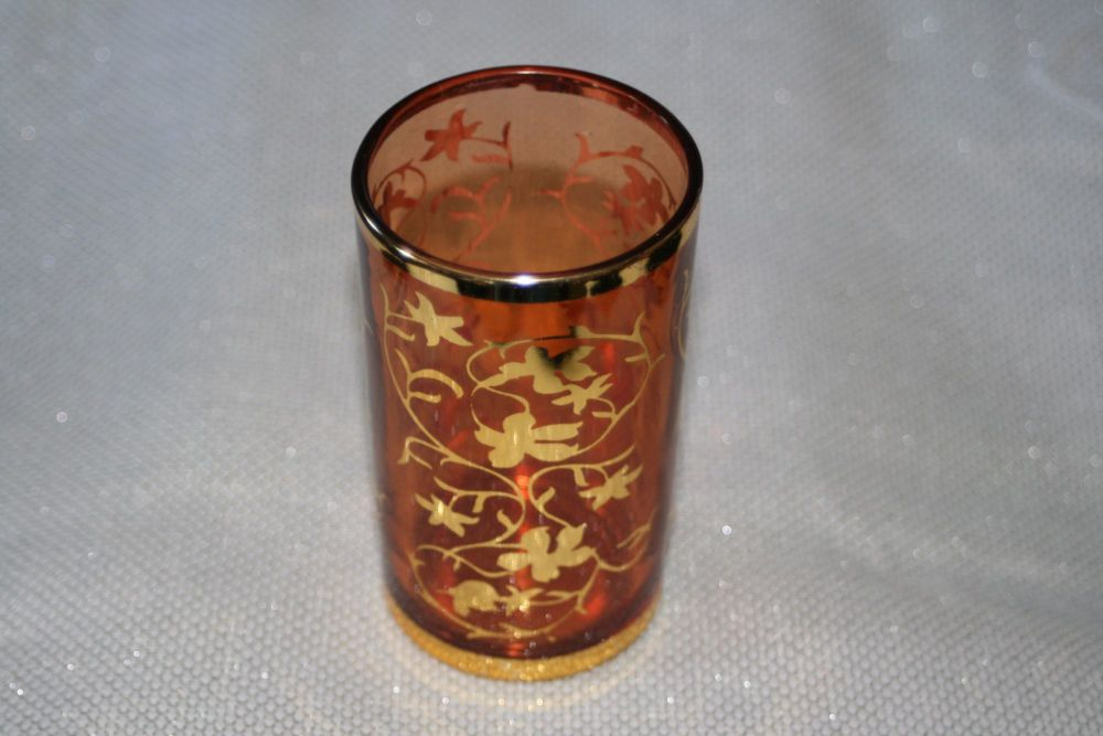 MOROCCAN GLASS TALL RED TEALIGHT HOLDER