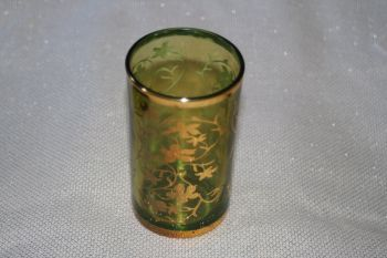 MOROCCAN GLASS GREEN TEA LIGHT HOLDER