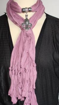 Jewellery Scarf in pale purple