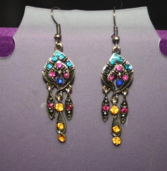Indian Inspired Dangling Earrings - LOTUS LEAF